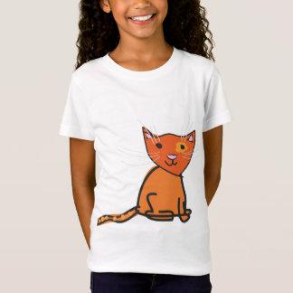 Camiseta Parte superior do gato do gengibre