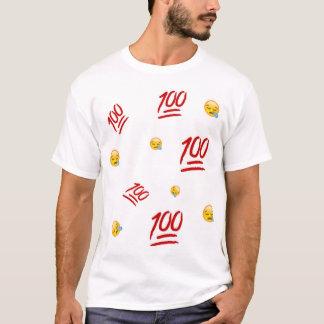 Camiseta Parte superior do gráfico de 100 Emoji