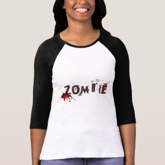 Camiseta Parte superior do impressão do zombi das mulheres