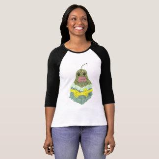 Camiseta Parte superior do Raglan da senhora Pera Nenhum
