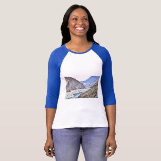 Camiseta Parte superior do Raglan das mulheres do Rio
