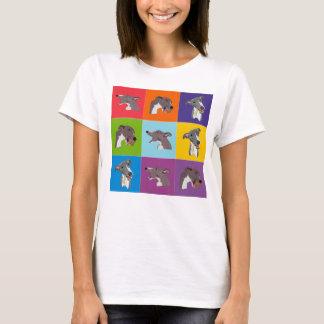 Camiseta Parte superior dos espaguetes do montagem do pop