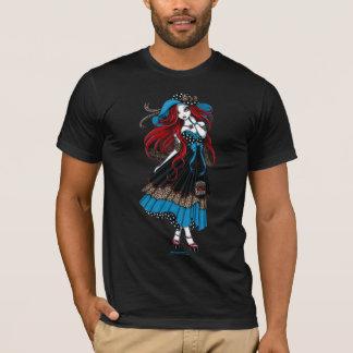 Camiseta Parte superior elegante Rockabilly do anjo de Emma