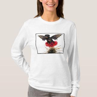 Camiseta Parte superior feericamente das senhoras do cão de
