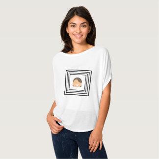 Camiseta Parte superior feliz de Flowy do retrato