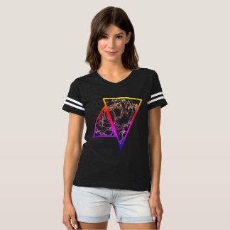 Camiseta Parte superior floral geométrica colorida