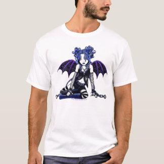 Camiseta Parte superior gótico acorrentada azul do país das