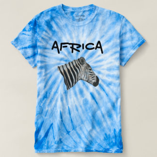 Camiseta Parte superior gráfica azul unisex da tintura do