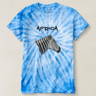 Camiseta Parte superior gráfica unisex azul da tintura do