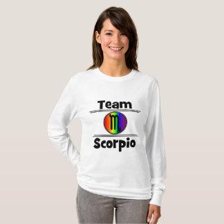 Camiseta Parte superior longa da luva da Escorpião de