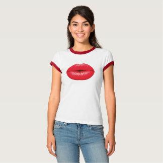 Camiseta Parte superior vermelha dos lábios