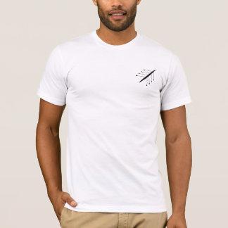 Camiseta Parte traseira do alfabeto do enfileiramento do