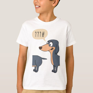 Camiseta parte traseira do cão
