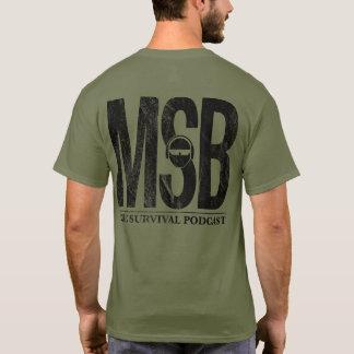 Camiseta Parte traseira do cheio de MSB