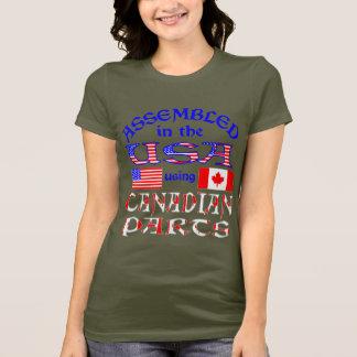 Camiseta Partes canadenses 2 dos EUA
