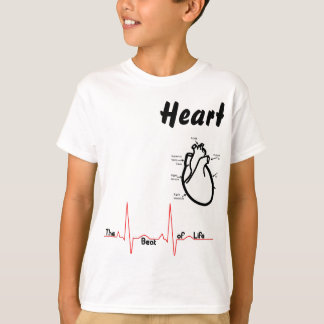 Camiseta Partes do corpo -- Coração humano