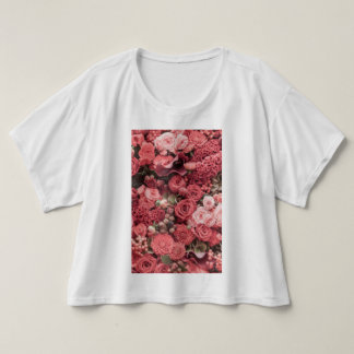Camiseta partes superiores da colheita