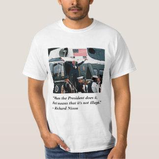 Camiseta Partida da renúncia do Nixonian do trunfo