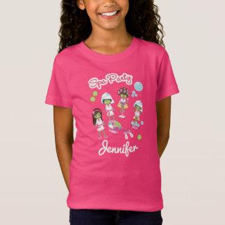 Camiseta Partido bonito do tratamento da beleza dos termas.
