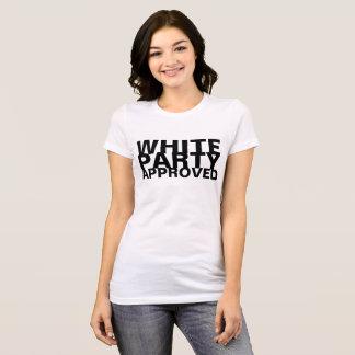 Camiseta Partido branco aprovado