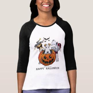 Camiseta Partido do Fox Terrier o Dia das Bruxas