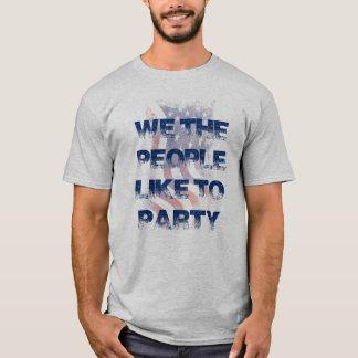 Camiseta Partido pessoas do t-shirt do 4 de julho