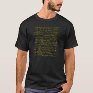 Camiseta Partitura amarela (sonata de piano de Beethoven)