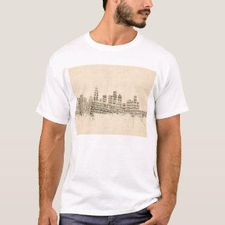 Camiseta Partitura Citysca da skyline de Los Angeles