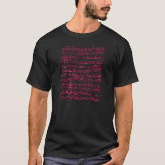 Camiseta Partitura clássica cor-de-rosa de néon (Beethoven)