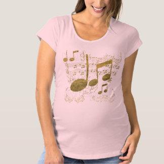 Camiseta Partitura dourada