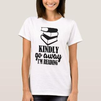 Camiseta Parto amavelmente, eu estou lendo