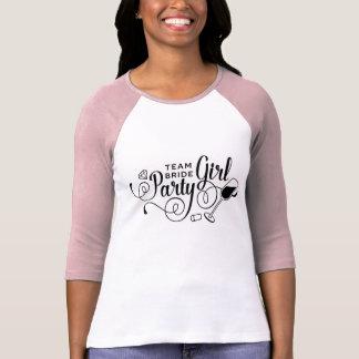 Camiseta Party girl Bachelorette da noiva da equipe