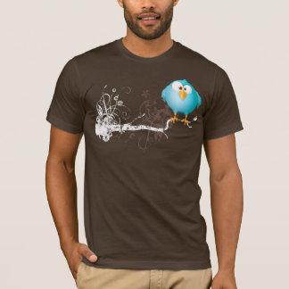 Camiseta pássaro azul gordo