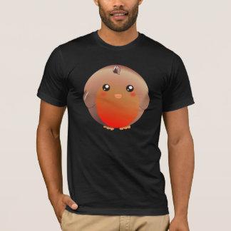 Camiseta Pássaro bonito do pisco de peito vermelho