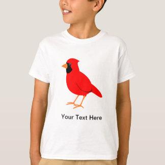 Camiseta Pássaro cardinal vermelho do norte