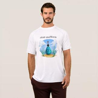 Camiseta Pássaro cartoony engraçado com o ovo enorme do xxl