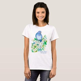Camiseta Pássaro de estado de Idaho do Bluebird da montanha