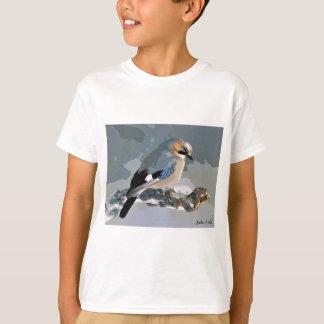 Camiseta Pássaro de Jay no inverno