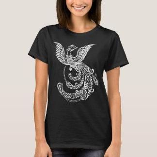 Camiseta Pássaro de Phoenix do chinês para a cor escura