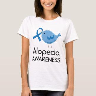Camiseta Pássaro do azul da fita da consciência da calvície