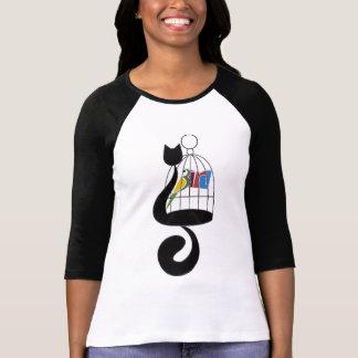 Camiseta pássaro do gato