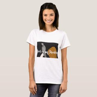 Camiseta Pássaro do ombro - t-shirt