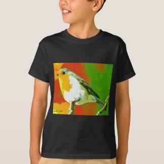 Camiseta Pássaro do pisco de peito vermelho