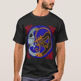 Camiseta Pássaro & gato celtas