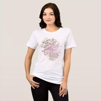 Camiseta Pássaro oriental do rosa do estilo do design do