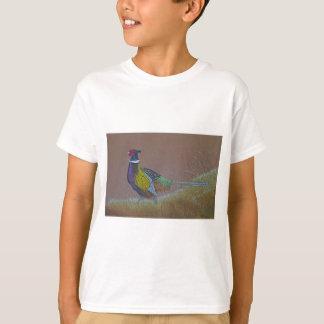 Camiseta Pássaro selvagem do faisão do pescoço do anel