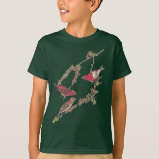 Camiseta Pássaro vermelho do passarinho roxo de Audubon no