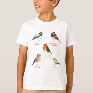 Camiseta Pássaros coloridos do jardim