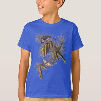 Camiseta Pássaros com crista de Audubon do Titmouse com