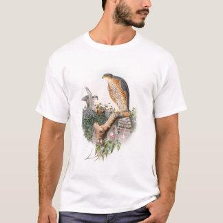 Camiseta Pássaros de John Gould do falcão de pardal de Grâ
